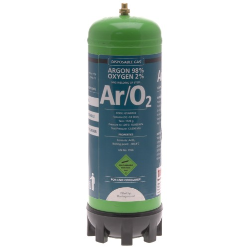 DISPOSABLE GAS - 98% ARGON, 2% OXYGEN - 2.2L