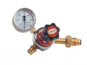 HARRIS LPG REGULATOR 801 - SIDE INLET (FLOWMETER)
