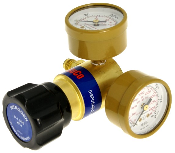 MINI REGULATOR WITH GAUGE - NITROGEN