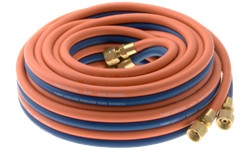 TWIN GAS HOSE ASSEMBLY - OXYGEN/ACETYLENE - 15M