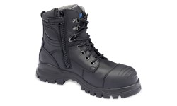 BLUNDSTONE 997 - LACE UP & ZIP BOOT - SIZE 8