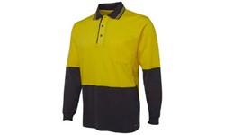 SHIRT LONG SLEEVE - HI VIS DAY ONLY - COTTON POLO (180GSM)
