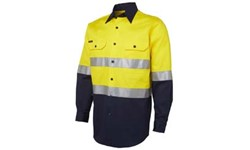 SHIRT LONG SLEEVE - HI VIS DAY/NIGHT (190GSM)