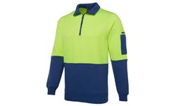 SHIRT LONG SLEEVE - HI VIS DAY ONLY - FLEECY SWEAT (280GSM)