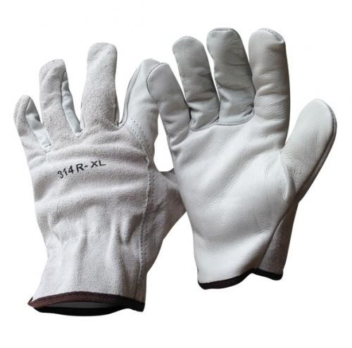 RIGGERS GLOVE - GRAIN PALM/SPLIT BACK - MEDIUM