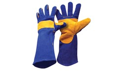 BLUE WELDING GAUNTLET GLOVE