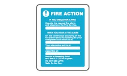 EMERGENCY FIRE ACTION SIGN