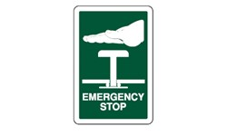 SIGN - EMERGENCY STOP