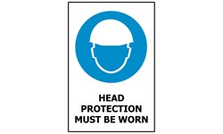 SIGN - HEAD PROTECTION
