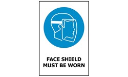 SIGN - FACE SHIELD