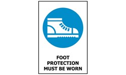 SIGN - FOOT PROTECTION