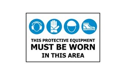 MANDATORY SIGN - PPE REQUIRED