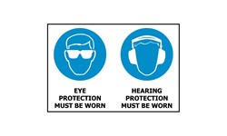 SIGN - EYE & HEARING PROTECTION