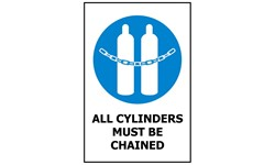 SIGN - CYLINDERS CHAINED