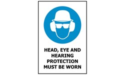 SIGN - HEAD, EYE & HEARING PROTECTION